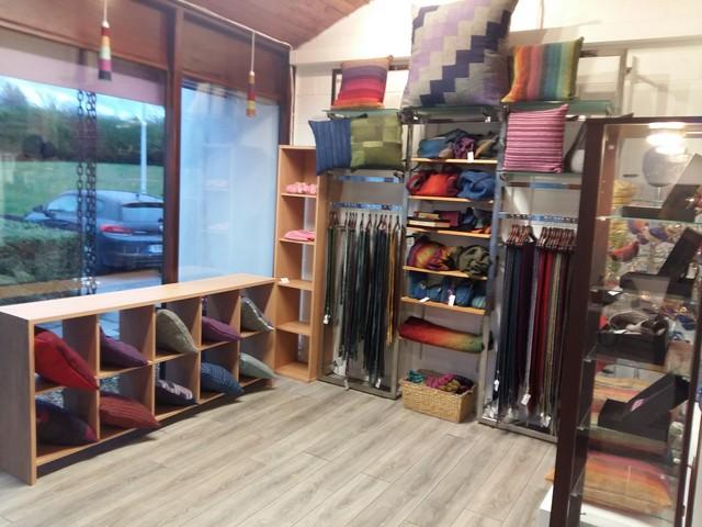 Handweaving Studio shop area in Donegal Town